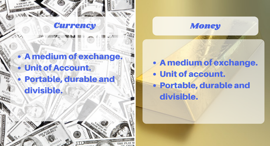 Money Makes Difference Even In >> Currency Vs Money Did You Know There S A Difference