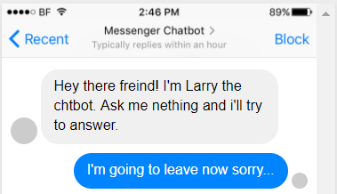 Why your chatbots greeting is its most important response who would actually use this chatbot probably no one m4hsunfo