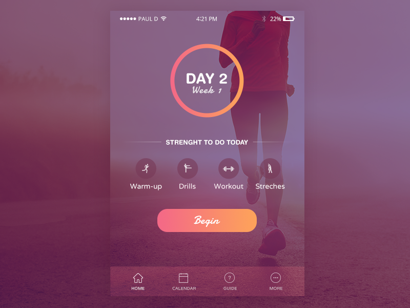 Fitness/Health App — Design Inspiration – Muzli - Design ...
