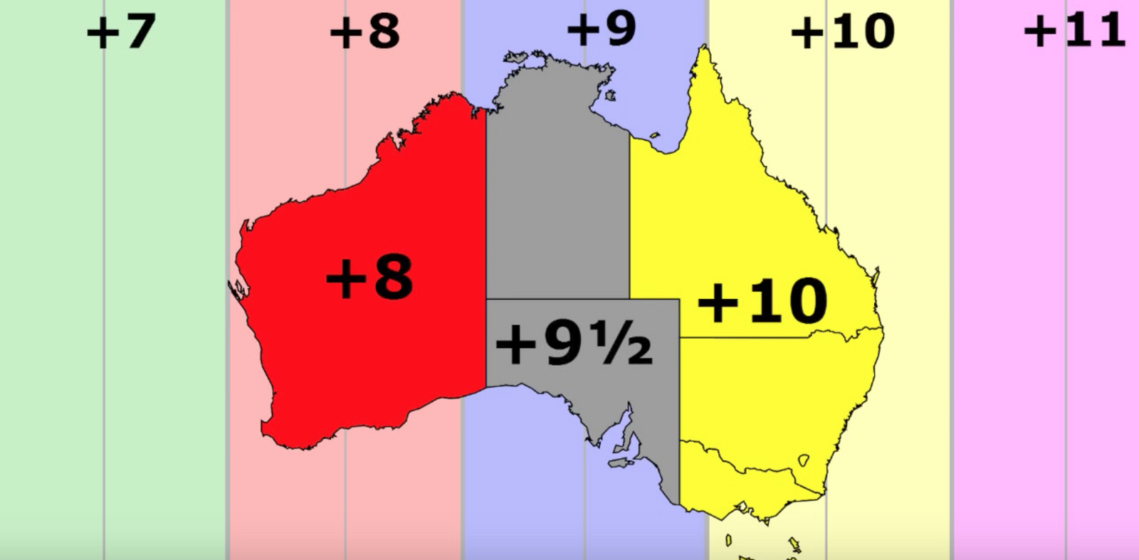 Time zones five guys facts medium thats right for some reason australia did not decide to universally use half hour increments rather it just yolod the middle of the country to use a gumiabroncs Images