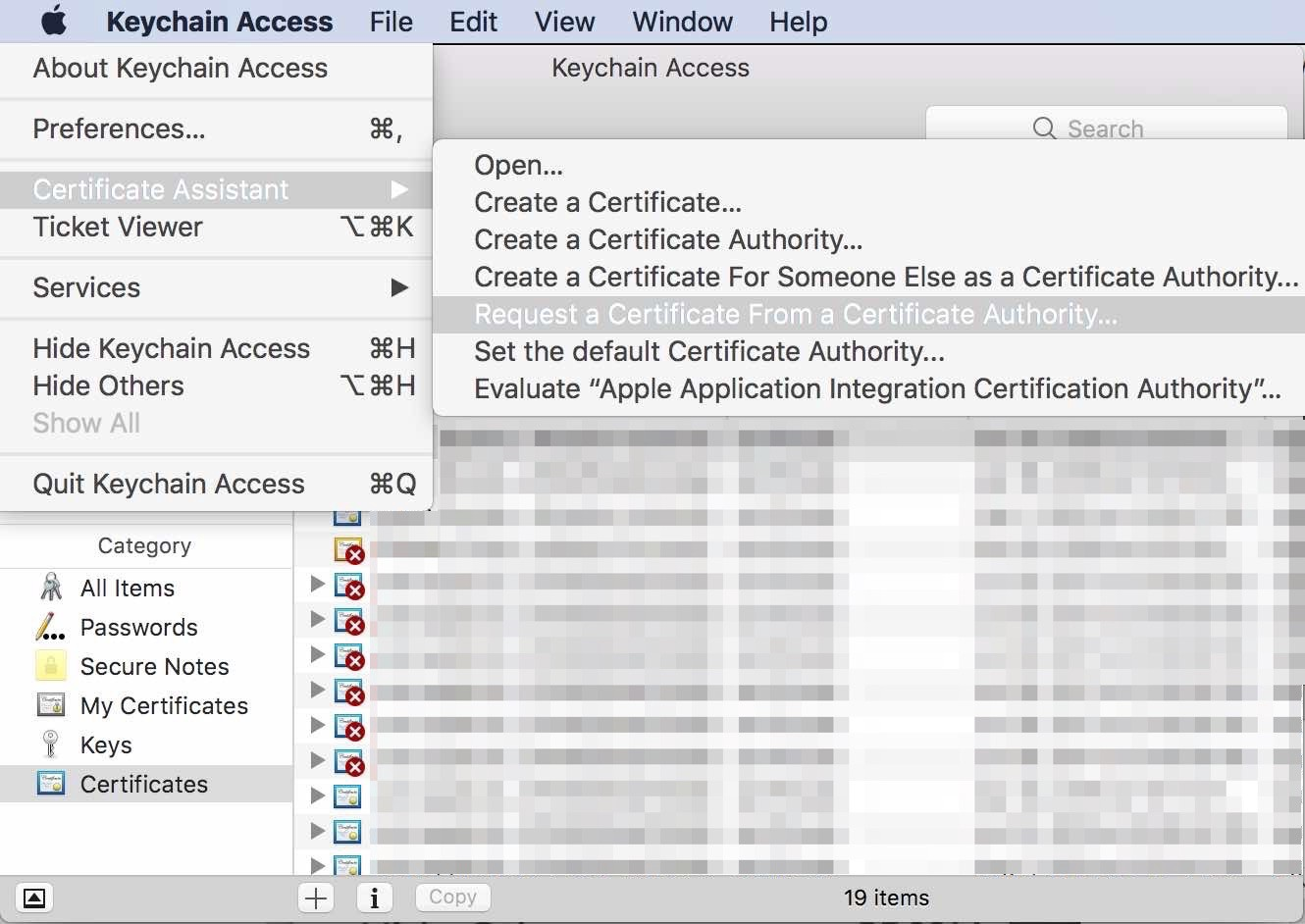 Setting up amazon sns apache cordova for push notifications after clicking the continue button fill out the certificate form press continue 1betcityfo Images