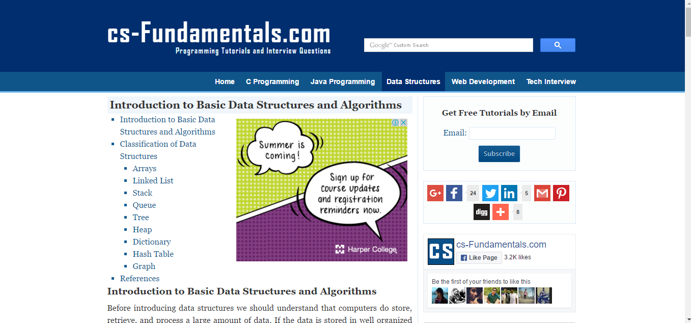 6 resources to learn algorithms and data structures another great introductory course to help you get started with data structures and algorithms this blog will breakdown topics such as arrays linked list baditri Image collections