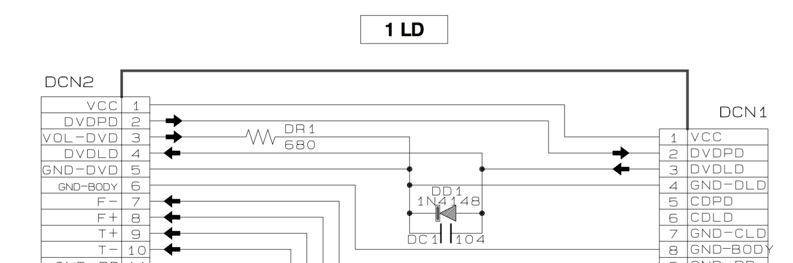 Salvaging A Samsung Dvd M101 Player R X Seger Medium Circuit Diagram For Servo Control Applications Certainly Not An Indicator Light Leds Or Vfds Coming Up Are More Appropriate That Purpose Observing The Monitor Diode Could Be