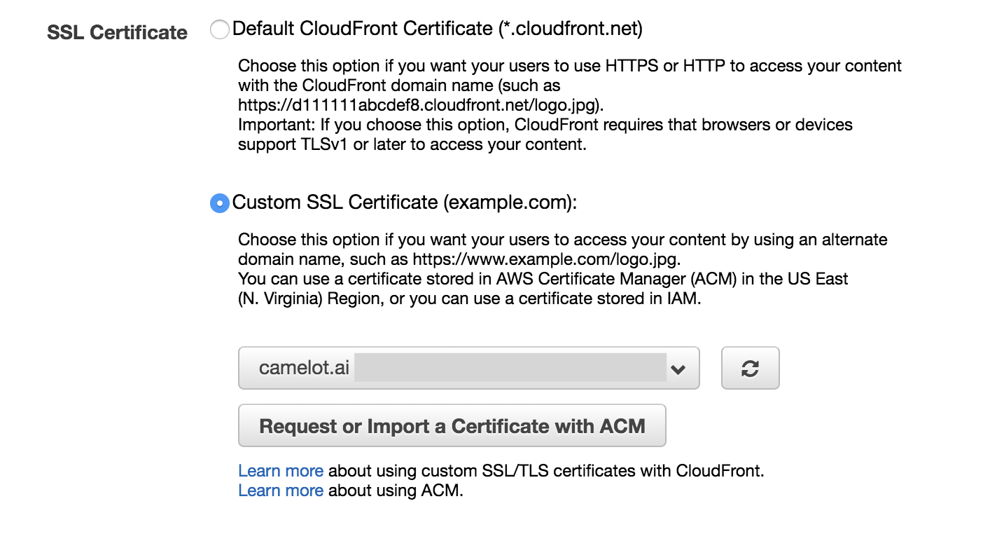 How to set up https for your domain on aws hacker noon create a cloudfront distribution 1betcityfo Choice Image