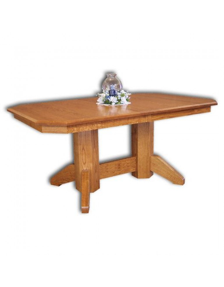 Amish Double Pedestal Dining Tables Are Available In Many Styles Sizes And Wood Types Include Mission Shaker Traditional Formal