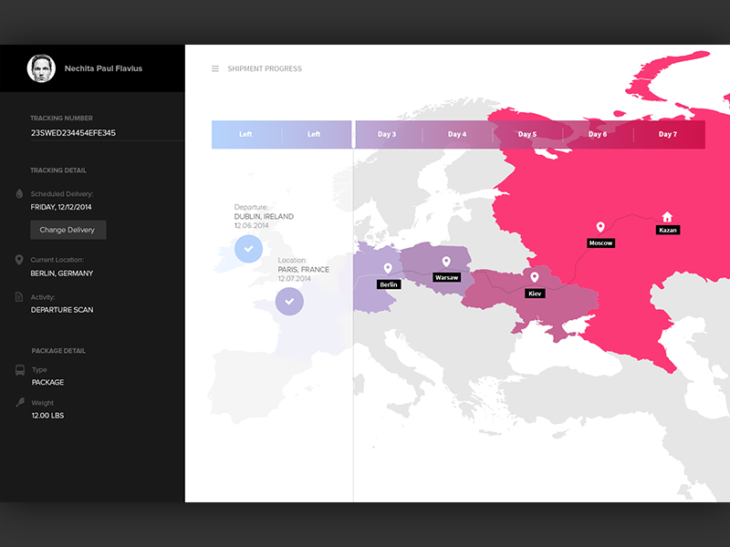 Maps in ui design inspiration supply medium package tracker by nechita paul flavius gumiabroncs Gallery