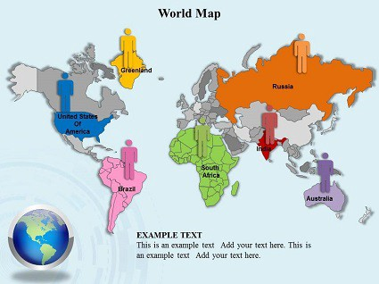 World Map Powerpoint Templates For Powerpoint Medium