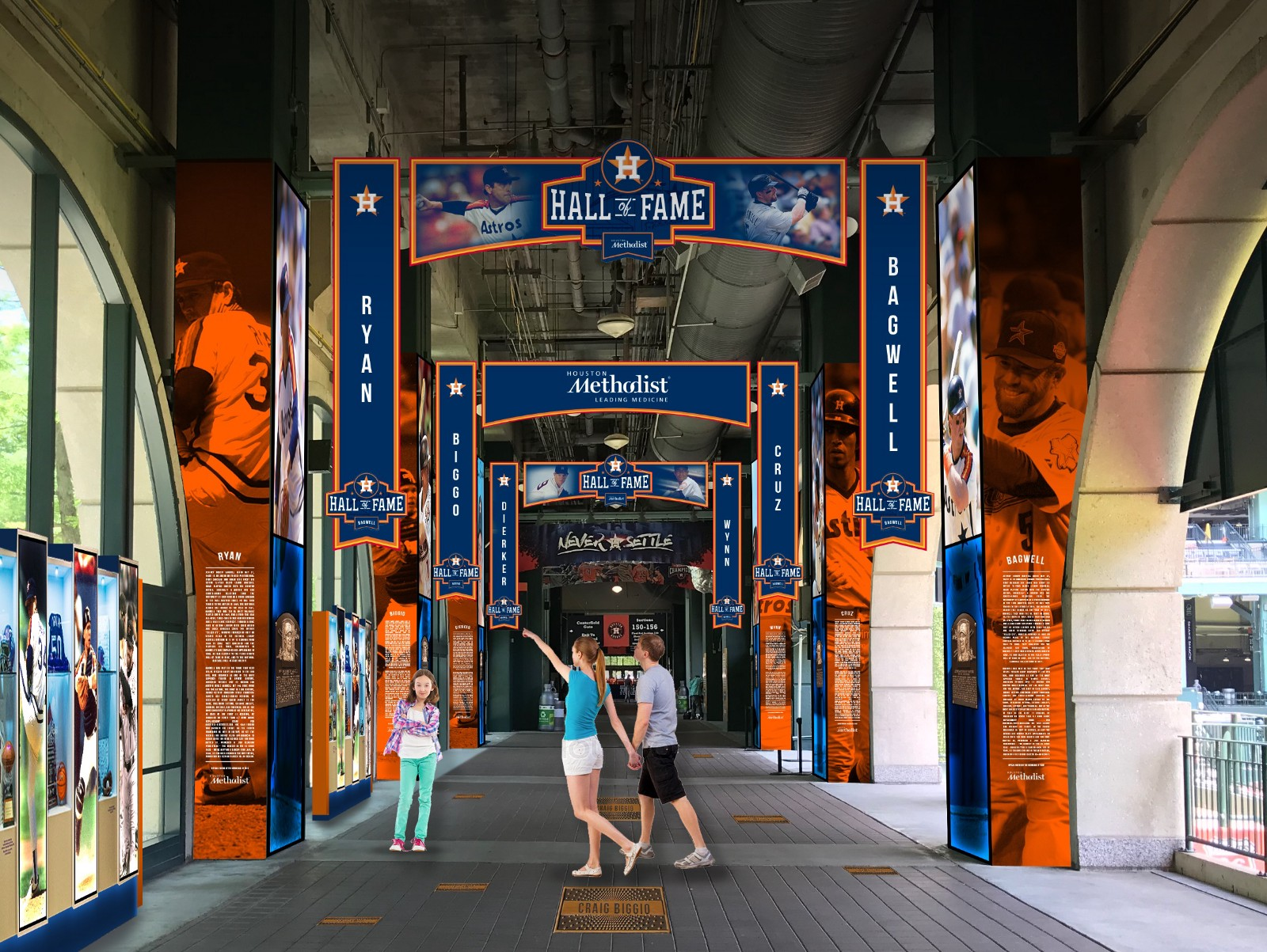 ecf50c677a8 Astros reveal full details of new Astros Hall Of Fame presented by Houston  Methodist