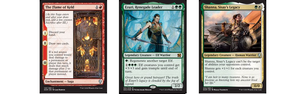 The graphic design for Magic, the Gathering card frames