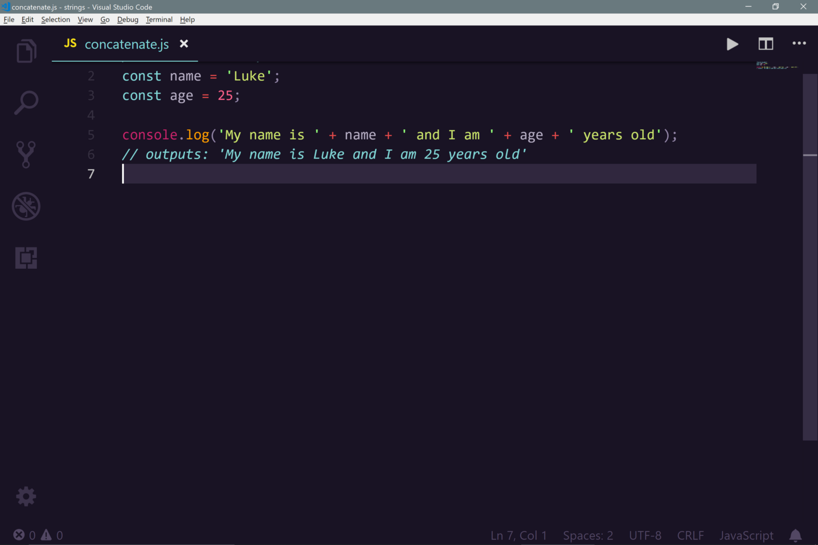 javascript es6 template literals and new string methods