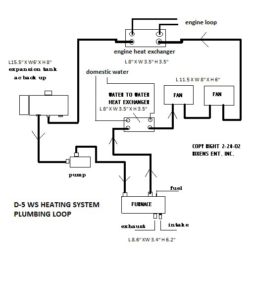 Hydronic heat exchanger system diagram wiring diagrams schematics indirect water heater piping diagram source diy high altitude hydronic water and space heating in a sprinter van rh medium com at ccuart Image collections