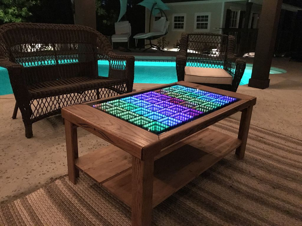 This Led Coffee Table Takes Your Home Decor To Infinity And Beyond