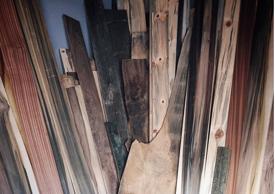 Each piece of wood is as unique as the next, and the evidence is in its patterns. Photo via @monkwood_ on Instagram