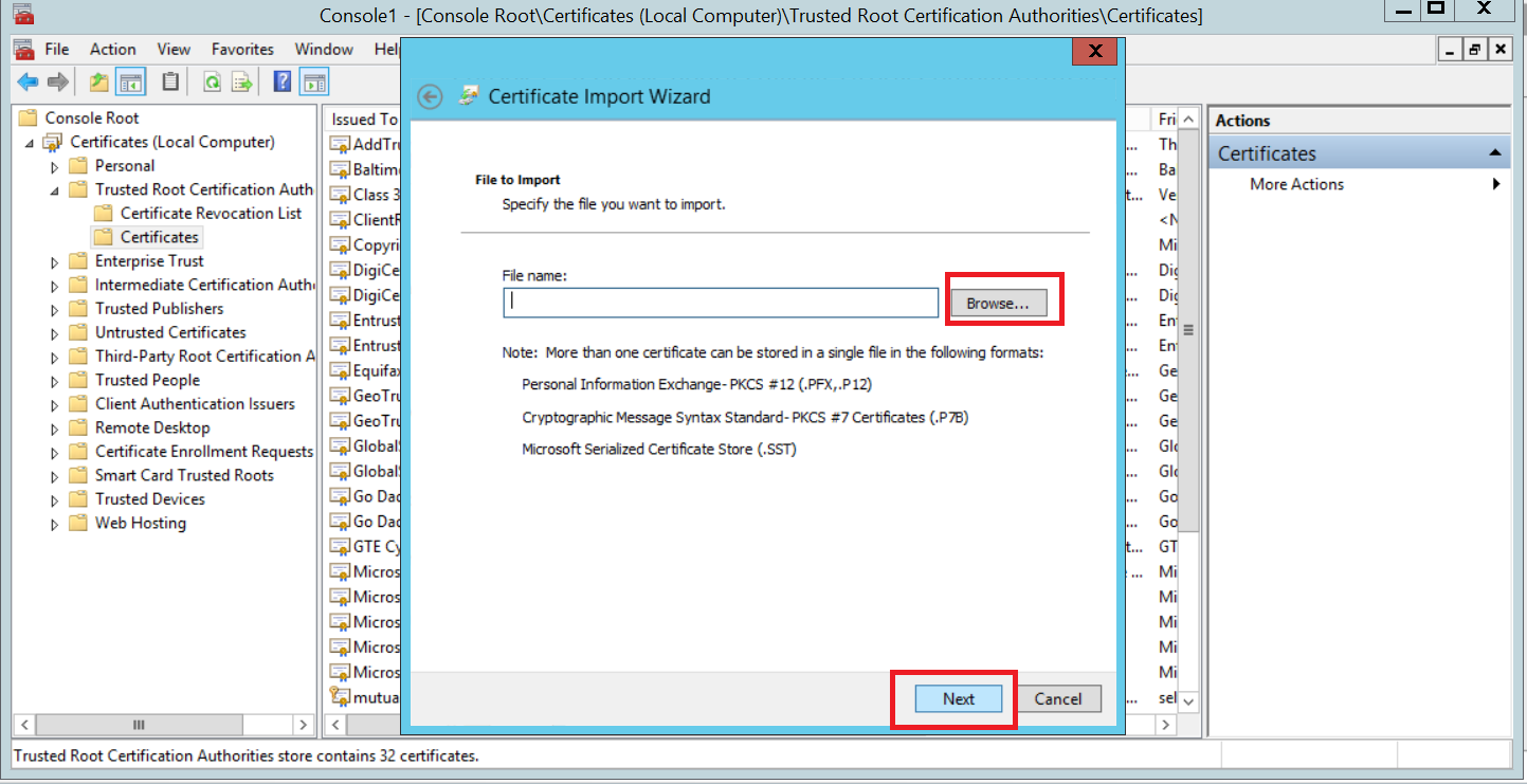 Configuring client certificates for mutual authentication on iis 8 now you will see your certificate on trusted certificate list 1betcityfo Image collections