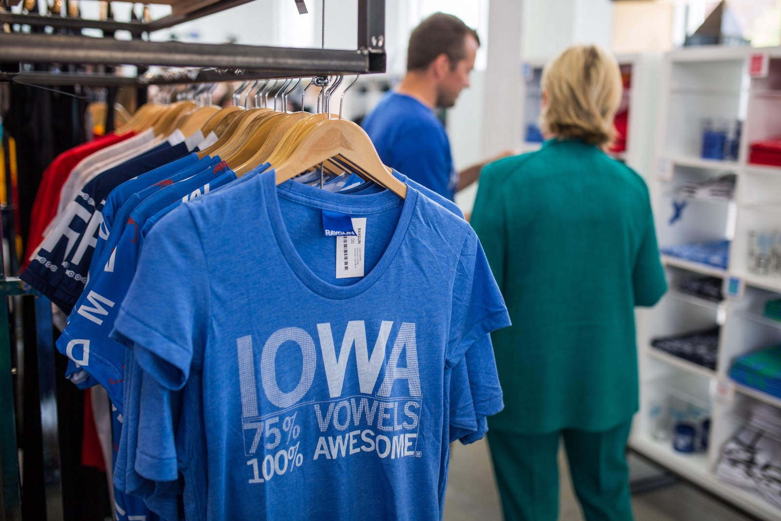 "9ef81492008 It s a store — and Mike s a small business owner — that embodies one of its  perennial t-shirt designs  ""Iowa  75% vowels"