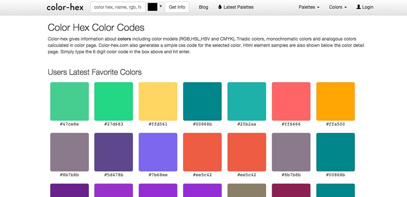 12 Best Tools for Playing Around with Color Muzli Design – Sample Html Color Code Chart