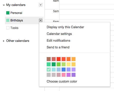 how to completely remove birthdays from google calendar