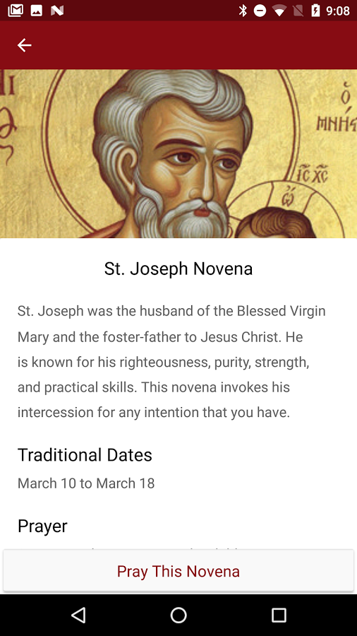Praying a novena for someone