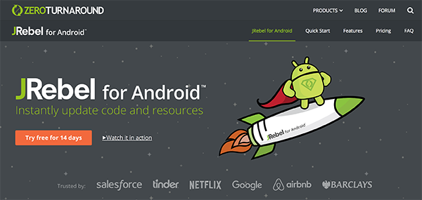 Top 30 Android Tools - #3 JRebel for Android