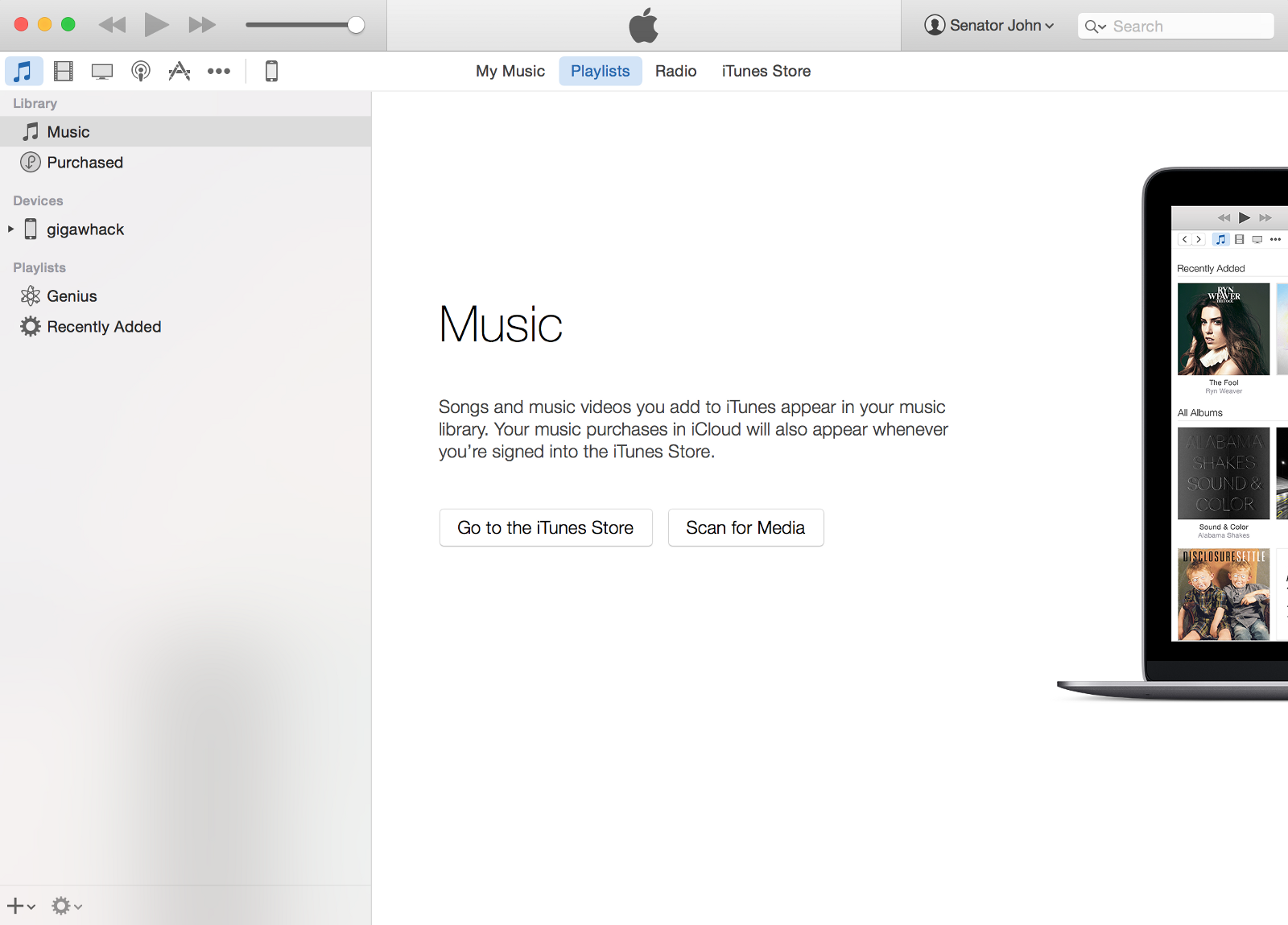 Itunes you do not have any purchased music available to download