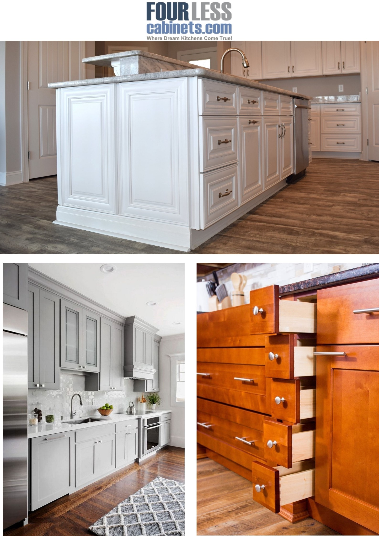 One Of The Most Por Trends In Kitchen Design Is Grey Cabinets These Shaker Are Made Solid Wood With Panel Full Overlay