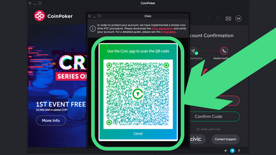 Guide to Getting Started on CoinPoker Step 11