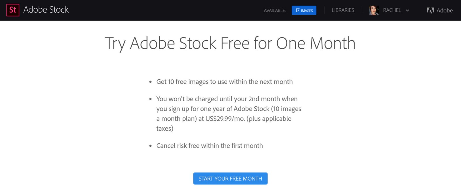 slammed with an adobe stock early cancellation fee on a risk free
