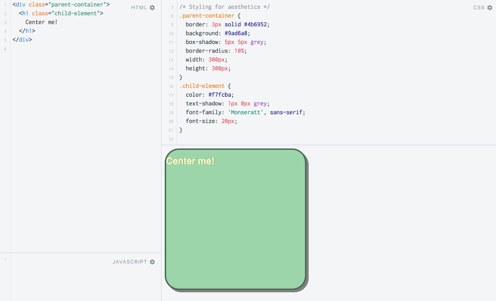 Meet me in the middle the fundamentals of centering html elements - Div tag properties ...