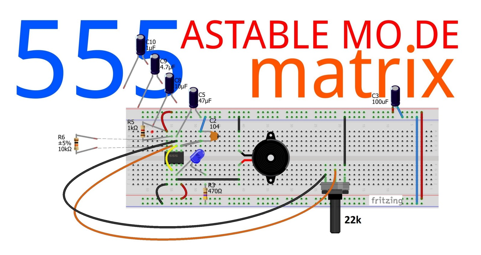555 Ic Astable Mode Jungletronics Medium The Timer In Monostablemode Potentiometer Is Used To Change Frequencies Run Time