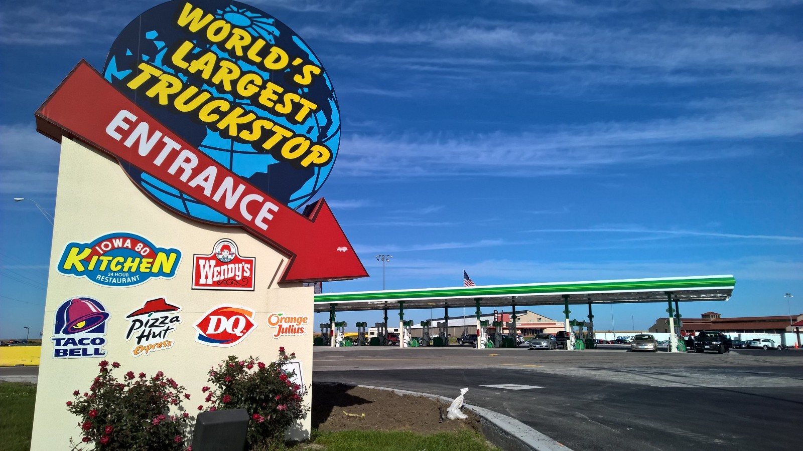 The world s largest truck stop wtf iowa 80 100 naked words for Iowa largest craft show