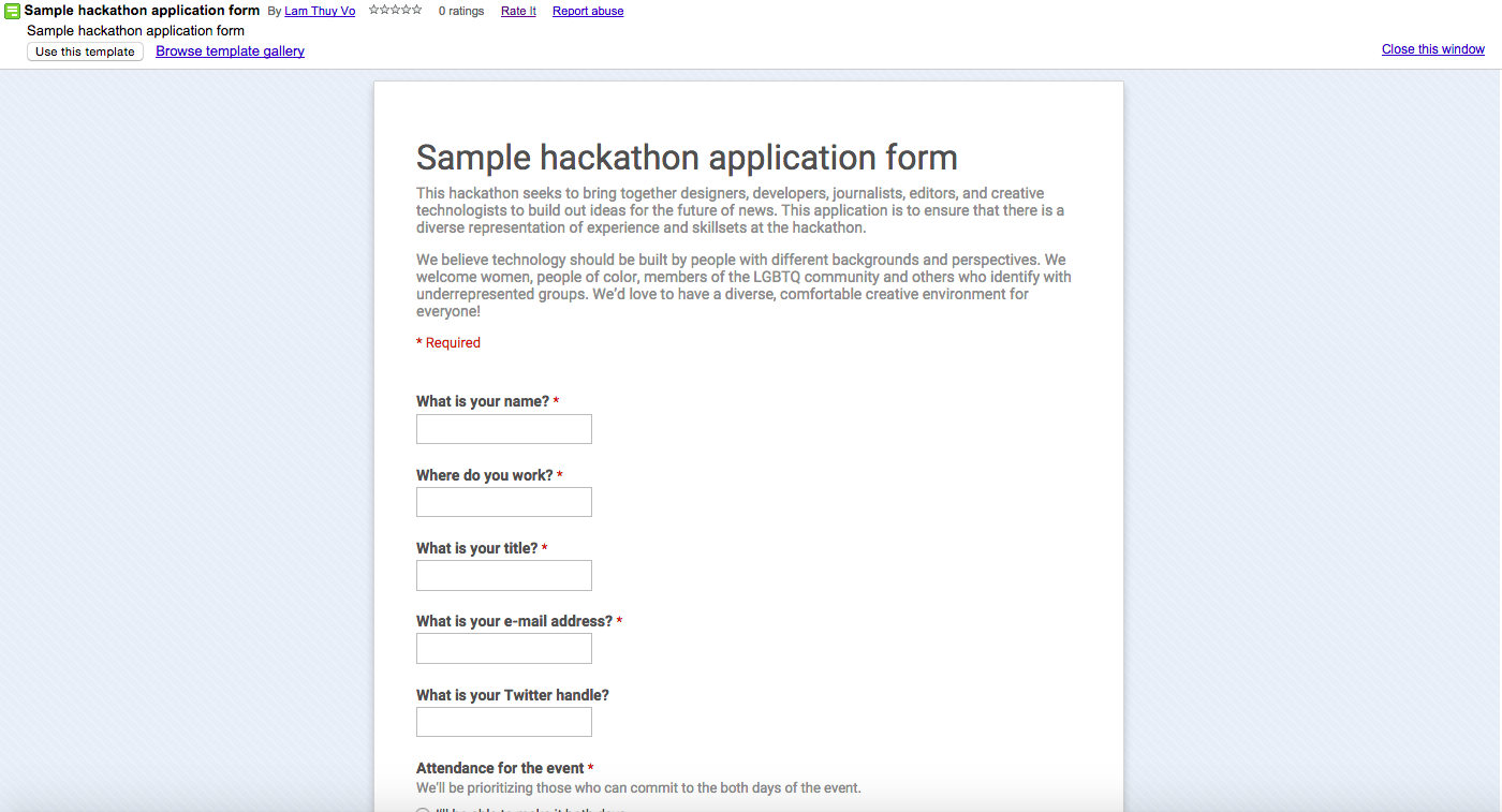 Designing hackathons lam thuy vo medium a sample hackathon application form template can be found here httpbithackathonsignup template pronofoot35fo Gallery