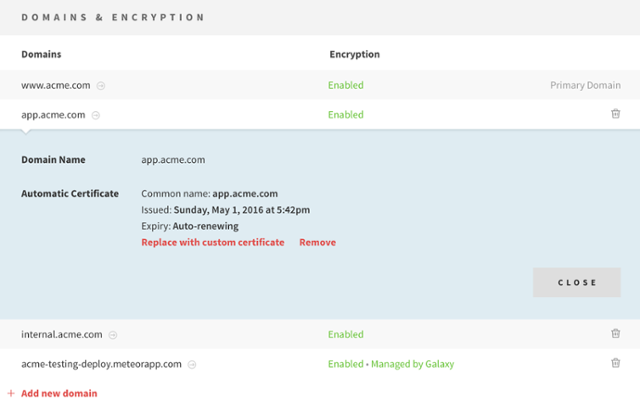 New in Galaxy: Automated SSL, European Access, and Prepaid Pricing