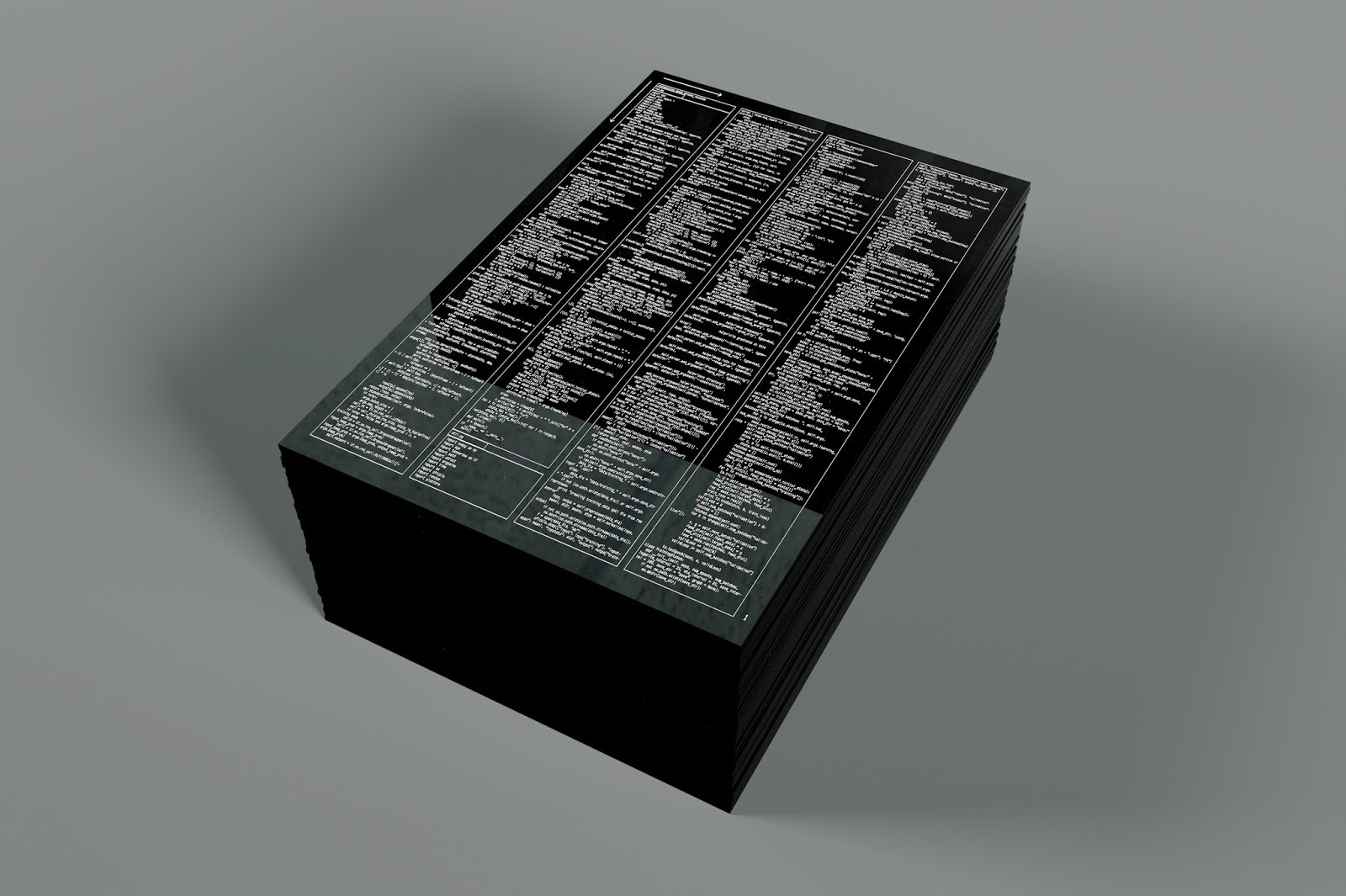 Digital Dust Jay Owens Medium High Res Jpeg Of A Circuit Board With Binary Codes As The Background Artist Designer Tobias Revell Laser Etched Python Code Supporting Libraries Required To Synthesise Fake Video Former Us President In 5pt Type