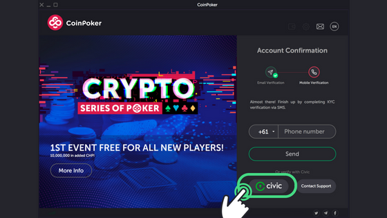 Guide to Getting Started on CoinPoker Step 10
