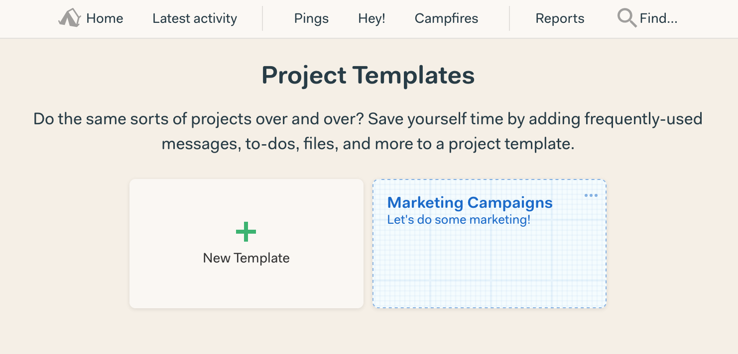 New In Basecamp Project Templates Signal V Noise - Project details template