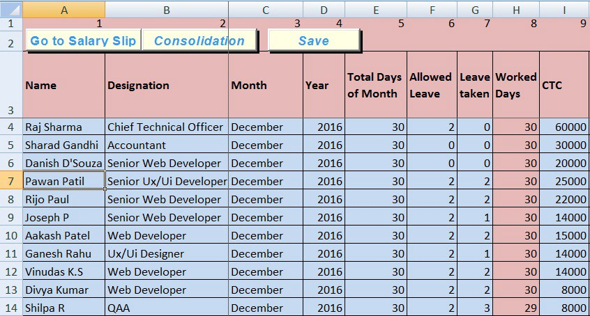10 best hr payroll templates in excel by exceldatapro for Salary history template hourly