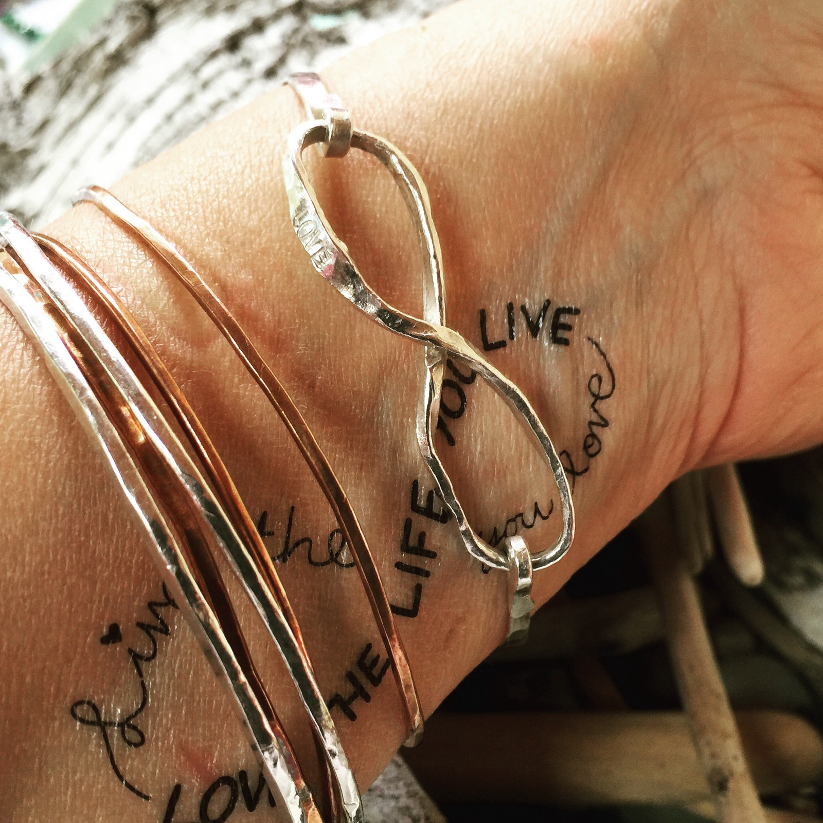 with rib infinity collection feather tattoo of on love symbol side gallery