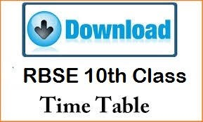 The Rbse 10th Date Sheet 2015 In Pdf Format