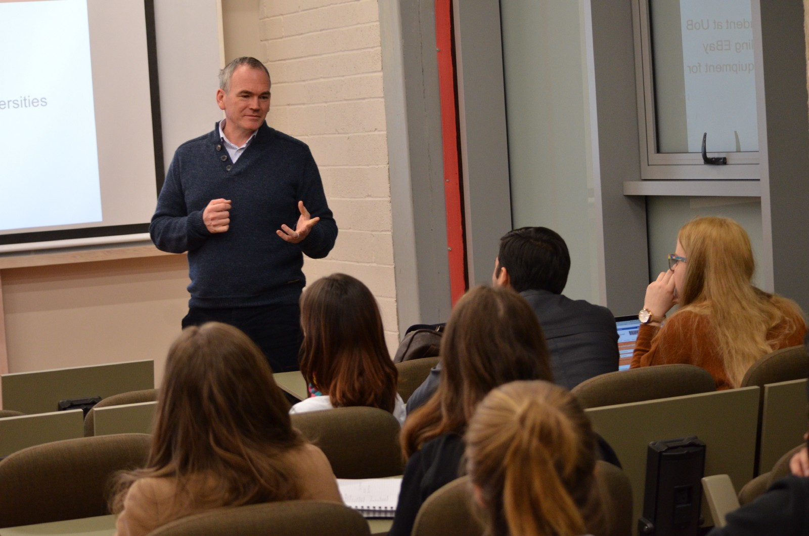 HFL cohort members attend a speaker event with Paul Adams (Virgin StartUp) hosted by the HFL at the Hult London campus