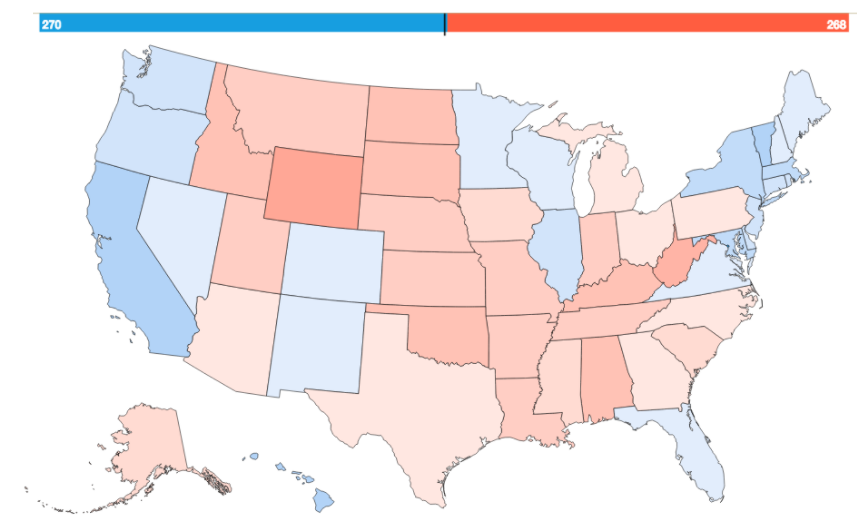 Clinton Would Have Won If The United States Looked Like This - Us map popular redrawn popular vote