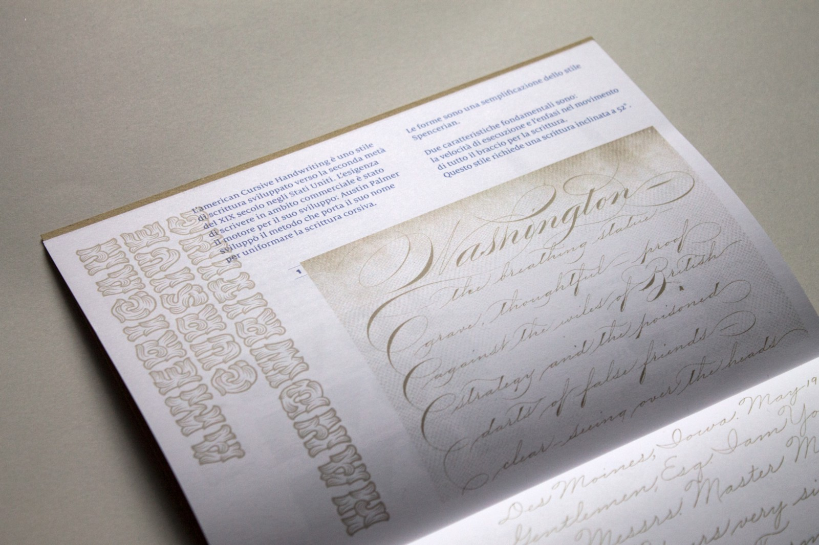 Handouts historical examples of Spencerian Preparatory practices