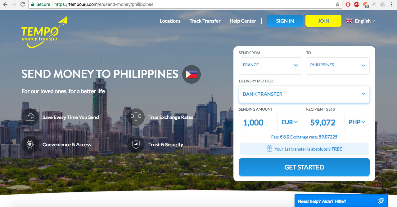 The Best Way to Send Money to the Philippines – TEMPO Money Transfer ...