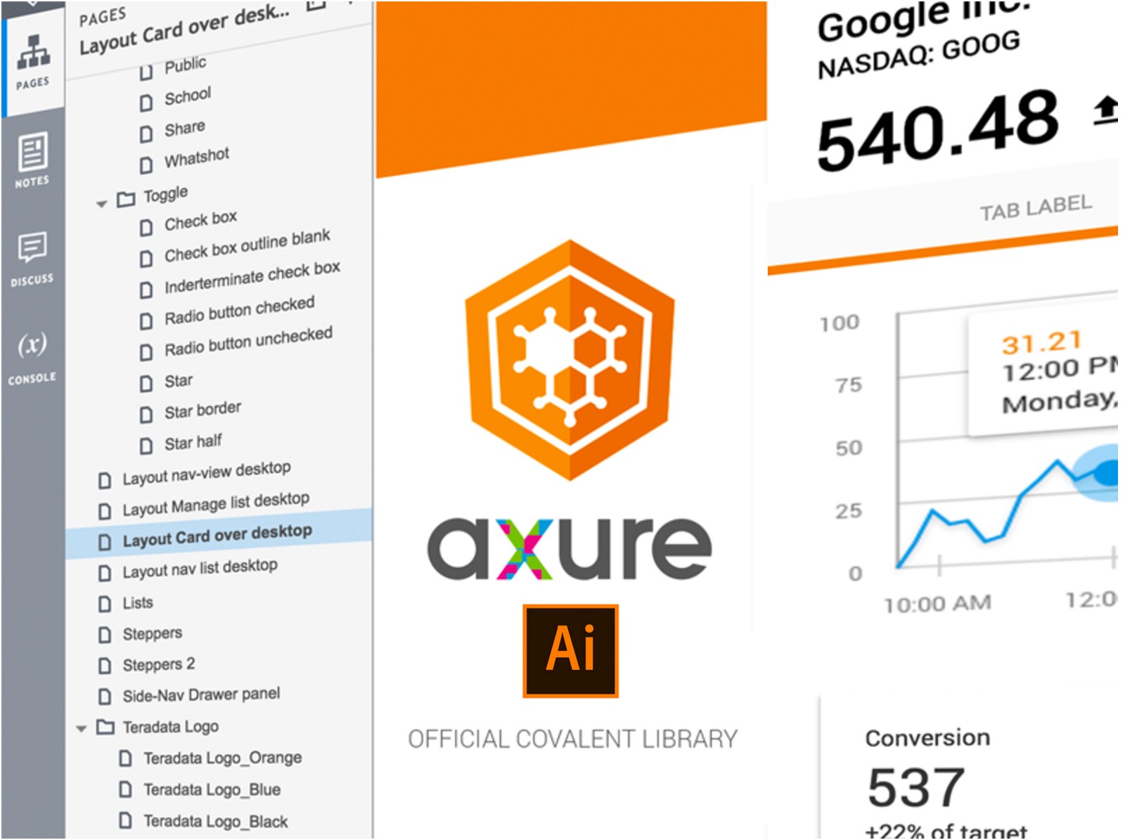 Covalent Axure Library And Adobe Illustrator Template Released