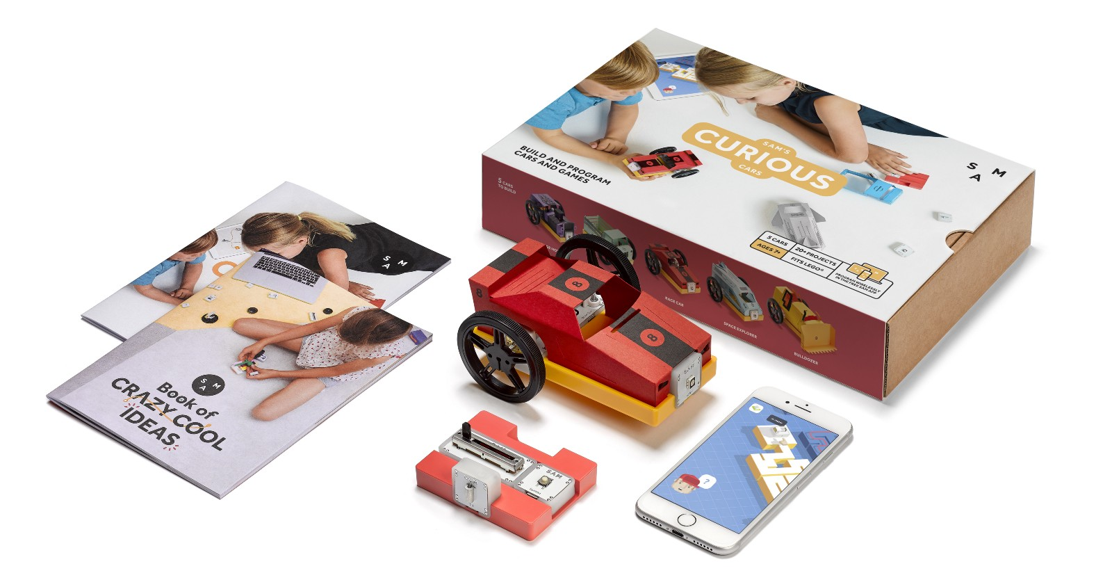 sam labs connected toy curious cars kit 199