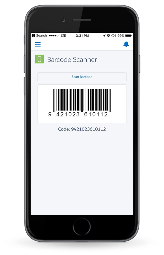 scan barcode on iphone lightning component to scan barcodes using salesforce1 16058