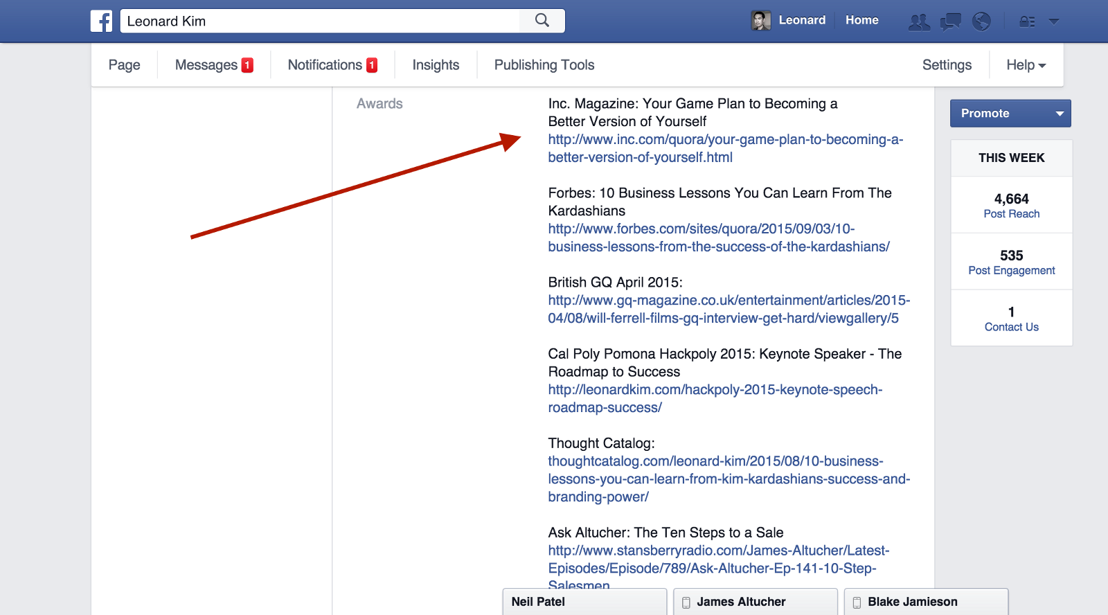 That blue check mark on facebook can now be yours here is how step 2 under awards put the publications you were in the titles of the articles followed with links biocorpaavc Gallery