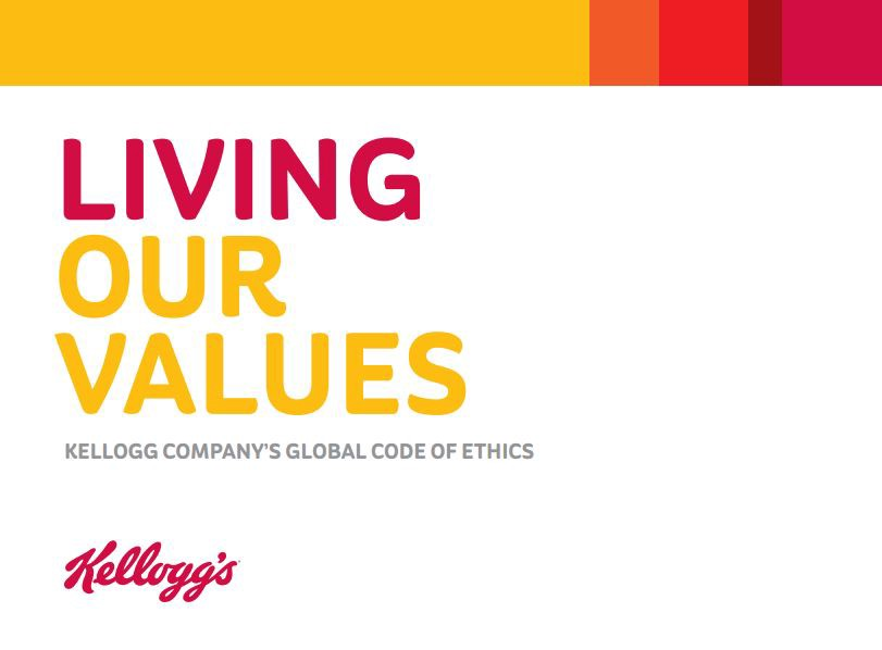 kelloggs ethics Posts about kelloggs ethics written by helena kelloggs ceo, john bryant, has announced that breitbart news does not uphold to their 'value structure' and.