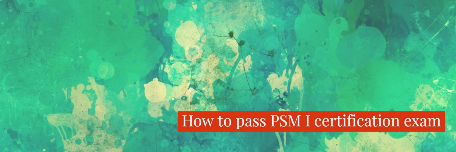 How To Pass Psm I Certification Exam Tales Of A Software Engineer
