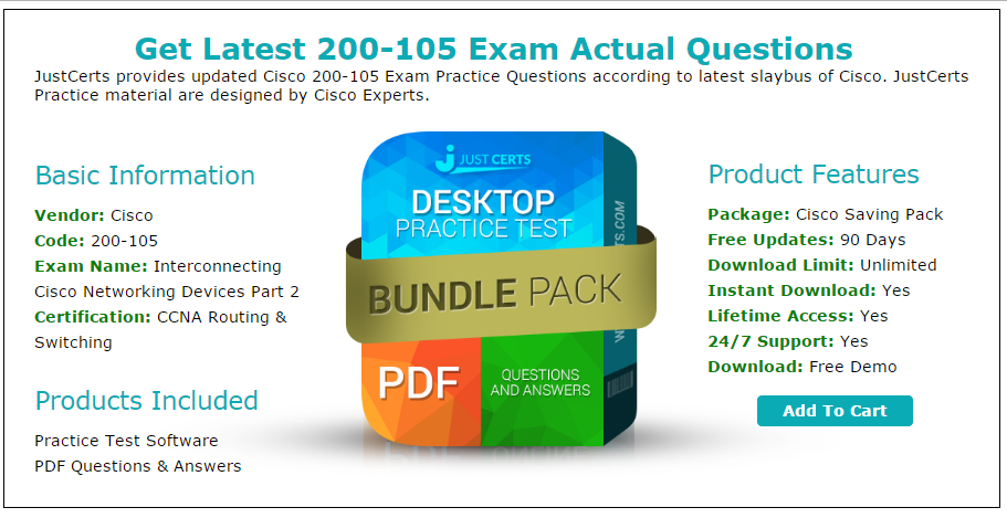 200-105 CCNA Routing & Switching Exam Questions (Updated 2016)