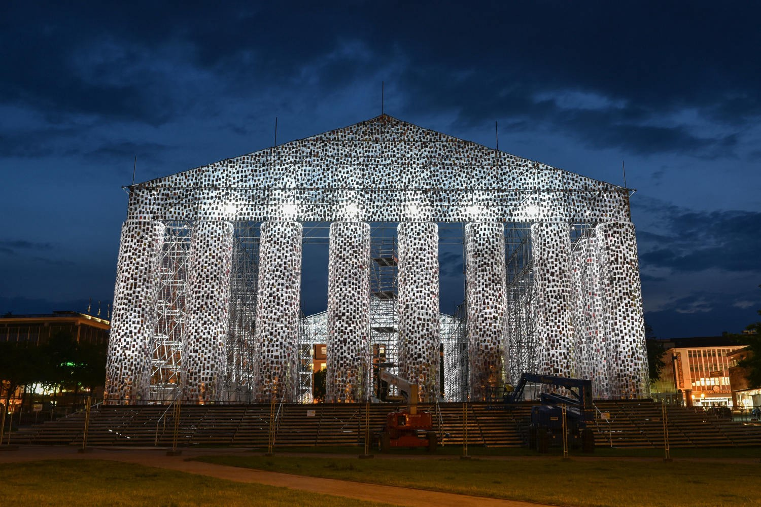 A parthenon made of banned books now stands where nazis once burned even on a slow news day in the book world there are intriguing projects coming to fruition and theres excitement over future projects now brewing today fandeluxe Choice Image